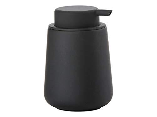 Zone Denmark Nova One Seifenspender für Flüssigseife, Steingut mit Soft Touch-Beschichtung, schwarz