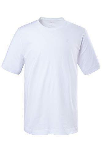 JP 1880 Herren große Größen bis 8XL, T-Shirt, JP1880-Motiv auf der Brust, Basic-Shirt, Rundhalsausschnitt, Reine Baumwolle, weiß 5XL 702558 20-5XL
