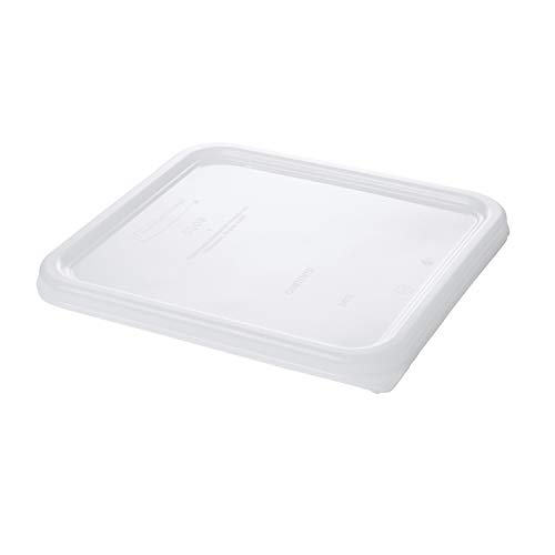 Rubbermaid Commercial Products Small Lid For 2, 4, 6, And 8 Qt. Plastic Space Saving Square Food Storage Container (Fg650900Wht),White