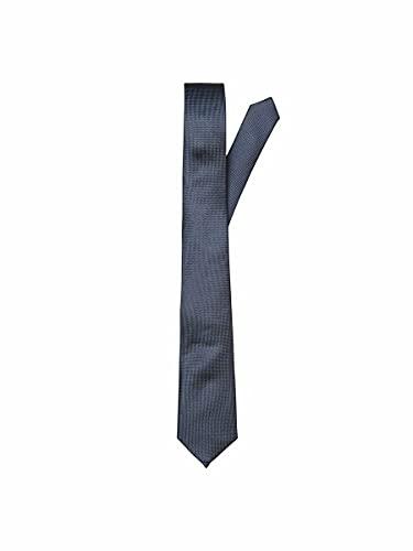 SELECTED HOMME Slhnew Texture Tie 7cm Noos B Corbata, Azul (Dark Sapphire Dark Sapphire), Talla única para Hombre