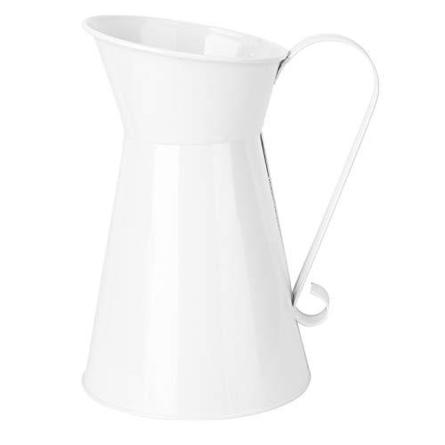 Cabilock Rustikalen Blume Vase Vintage Bauernhaus Krug Vase Shabby Chic Krug Vase Milch Können Halter für Home Decor