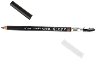 BENECOS Eyebrow Designer Brun Clair - Brosse et crayon à sourcils -Pour dessiner et discipliner les sourcils - Parfait pour corriger leur forme naturelle - Certifié BDIH - 100% vegan