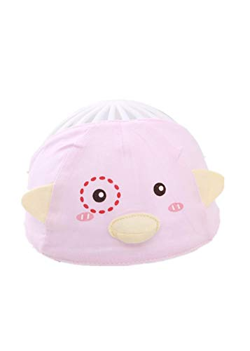 YANHUIGANG Chapeau Bonnet bébé Summer Cute Super Cute Thin cotton-38-43cm_One Size_Little Bird Point-Pink