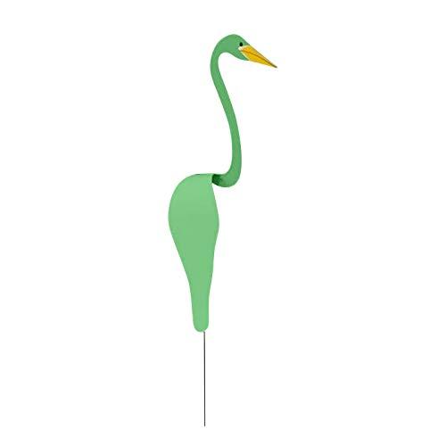 Wirbelvogel EIN wunderlicher und dynamischer Vogel,Flamingo-Windspinner,Gartendekoration für Hochzeit Patio Backyard Beach Party zum Valentinstag (Grün, 20CM)