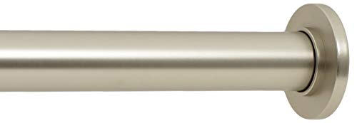 Ivilon Tension Curtain Rod - Spring Tension Rod for Windows or Shower, 36 to 54 Inch. Satin Nickel