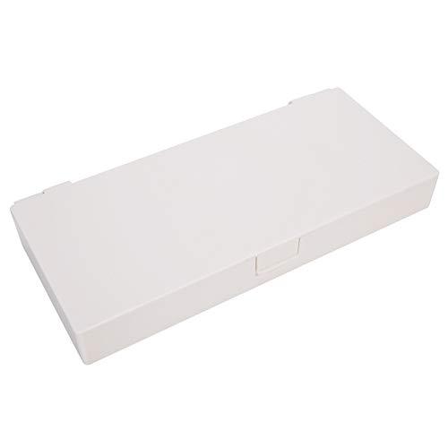 Bandas de goma portátiles Caja de almacenamiento de clips de joyería Organizador de aretes prácticos contenedores de herramientas para uso diario para hombres y mujeres para el hogar (blanco)