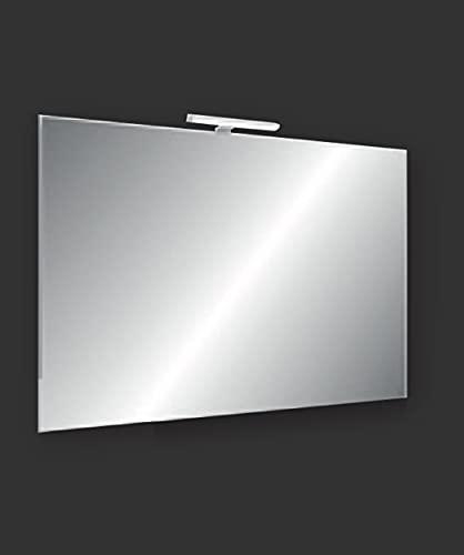 SPECCHIO FILO LUCIDO REVERSIBILE CON LED 20CM 5W 220VA+ (100_x_70_cm)