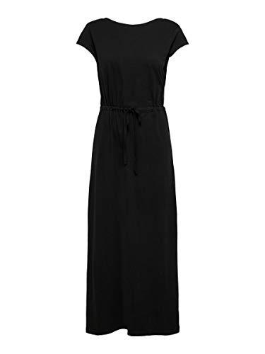 Only Onlmay Life S/s String Maxi Dress Jrs Vestido Informal, Black, S para Mujer