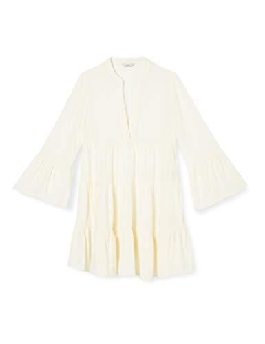 ONLY Damen ONLNANCY 3/4 Athena Dress WVN Kleid, Cloud Dancer, 34