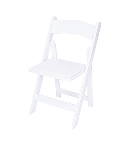 Rhino Series Wood Folding Chair (4 Pack) - Garden & Indoor/Outdoor Use - Perfect for Events, Weddings and Party Rentals - Durable, Storable, and Lightweight (White)