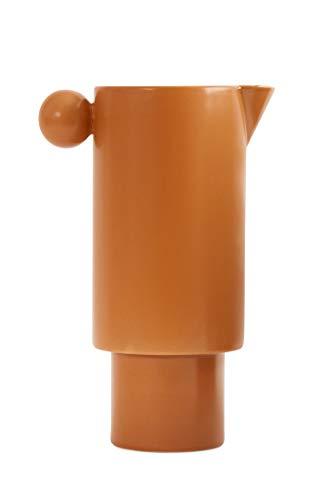 OYOY Living Inka Jug Caramel Krug Kanne Karaffe Braun 100% Steingut 14x22 cm - LIKAN1101057-307