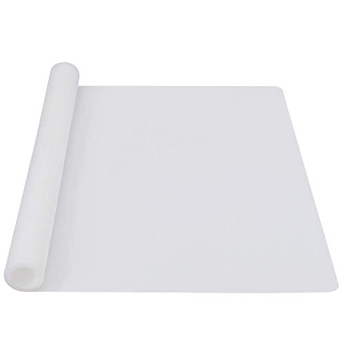 webake Tappetino da Forno e Pasticceria Antiadrente in Silicone per Tappetino da Collocamento Resistente al Calore Ed Antiscivolo, Prottetore da Bancalina, 60 × 40 cm (Trasparente)