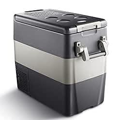 WECDS 50L AC DC1224V Compresor Camping Picnic Refrigerador portátil para automóvil al Aire Libre Congelador Profundo Caja de enfriamiento Mini refrigerador Traval Uso en el hogar (Gris Oscuro)