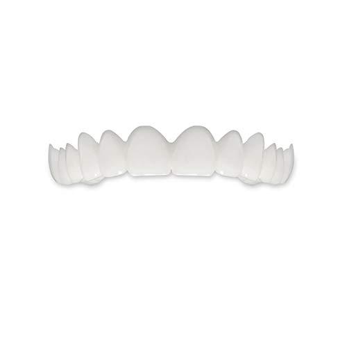 Xiton 1 PC CosméTique Les Dents Sourire Parfait Dents De Placage De Dentier Outil De Blanchiment Comfort Fit Flex Facettes Dents ProthèSe Professionnelle Pour Les Dents Du Haut (Blanc)