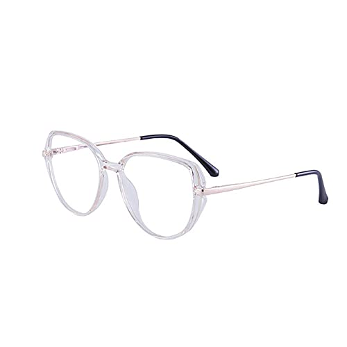 gafas de bloqueo de luz azul claro anti-fatiga anti-UV anti-reflexión computadora pantalla plana gafas-Pale powder_-1.5