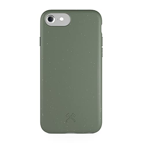 Woodcessories - Funda ecológica Compatible con iPhone SE (2020) / 8/7 / 6 s - Biodegradable, Hecha de Plantas (Verde)
