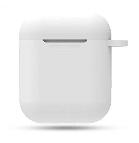 Ladud AirpodsEJ_5 Modelos de actualización Silicona de los Auriculares Bluetooth inalámbricos de Apple para airpods Funda Protectora Shell i9s (Blanco), Unisex-Adult, One Size