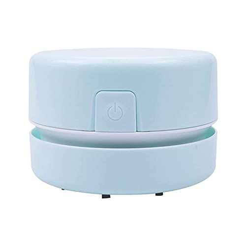 MagiDeal Aspiradora de escritorio Mini barredora de polvo de mesa para limpiar polvo, migas, Piano, ordenador, Coche - Azul