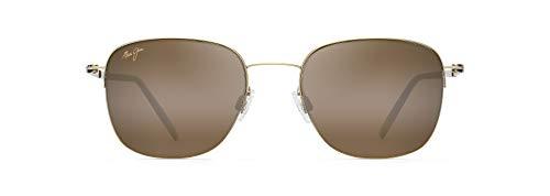 Maui Jim Crater Rim w/ Patented PolarizedPlus2 Lenses Polarized Classic Sunglasses, Gold Matte/Hcl Bronze Polarized, Small