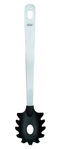 ibili Pasta Lepel, roestvrij staal, zwart/zilver, 31 x 5 x 2 cm