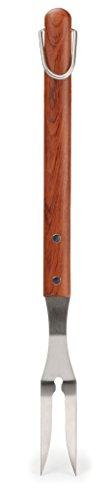 """RSVP International Endurance BBQ Grilling Tools, Fork-17.25"""", Rosewood Handle"""