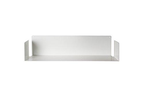 TEEbooks - Estantería de Pared en U, Acero, Blanco, 60 x 15 x 15 cm