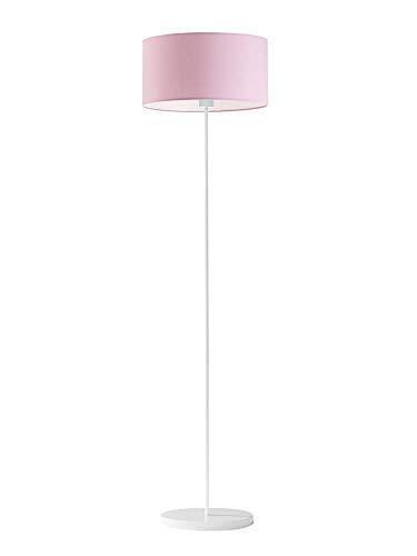 Lámpara de pie WERONA pantalla de lámpara rosa claro marco blanco