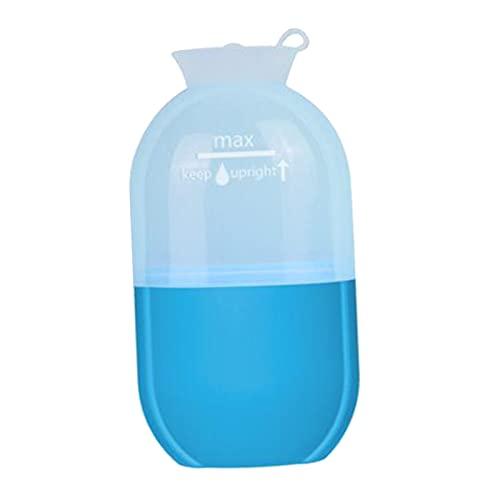 harayaa 1 pieza, pequeña taza de masaje con hielo refrigerante reutilizable, fitness, herramienta de rodillo de masaje frío, terapias frías, congelable, para - Azul