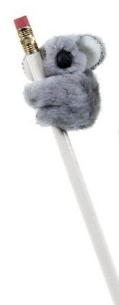 JR Koala Clip On Pencil Clip Huggers 12 Pack Gray
