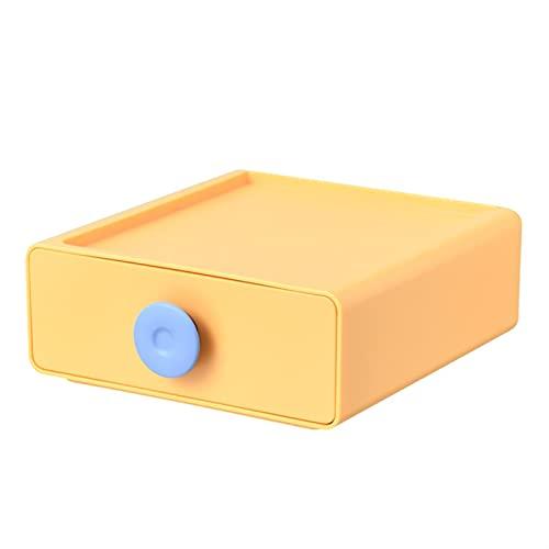 FDSJKD 2021 Cajones apilables en el hogar Caja de Almacenamiento de Escritorio Dries Organizador Estante de plástico Estante de plástico Cosméticos Lindo Contenedor (Color : H3 8252 Y)