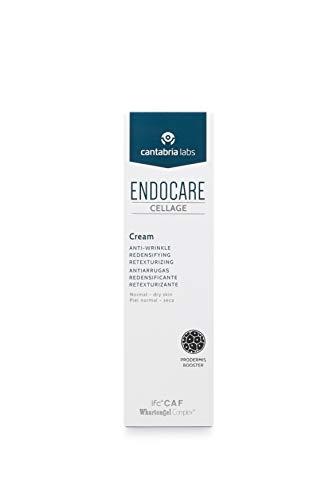 Endocare Cellage - Crema Antiarrugas, Antiedad, Redensificante, Retexturizante y Nutritiva, con Ácido Hialurónico, Pieles Normales y Secas, 50ml