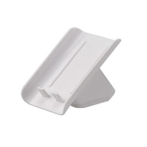 1 unidad de caja de jabón, plástico creativo, impermeable, antideslizante, soporte para jabón de drenaje de baño, contenedor de almacenamiento de jabón duradero, suministros de baño, 1 unidad, blanco