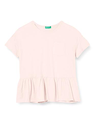 United Colors of Benetton Mädchen T-Shirt Pullunder, Pink (English Rose 3e3), 146 (Herstellergröße: X-Large)