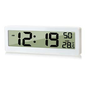 Oule GmbH Funkuhr mit DCF Zeitsignal und Thermometer mit XXL LCD Display Temperatur-Anzeige