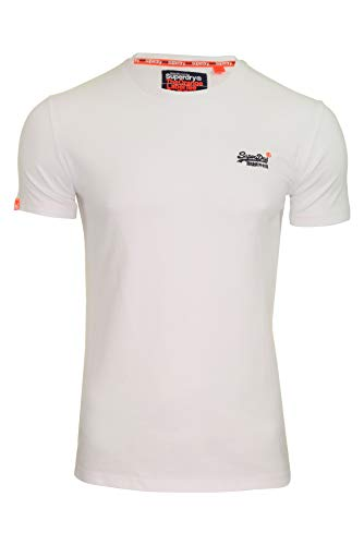 Superdry Orange Label VNTGE EMB S/S Tee, T-Shirt Uomo, Bianco (Optic White 26c), Large (Taglia Produttore:L)