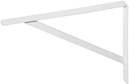 Gedotec Schwerlast-Konsole Metall Regalträger Winkel-Konsole weiß matt | 300 x 200 x 20 mm | Schwerlastträger Tragkraft 300 kg | Regalhalter Stahl massiv | 1 Stück - Regalkonsole für die Wandmontage