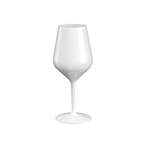 Sovie Tableware   Mehrweg Weinglas aus Tritan (Kunststoff) 470ml Weiss   Glas Wasserglas Trinkglas Rotweinglas   1 Stück