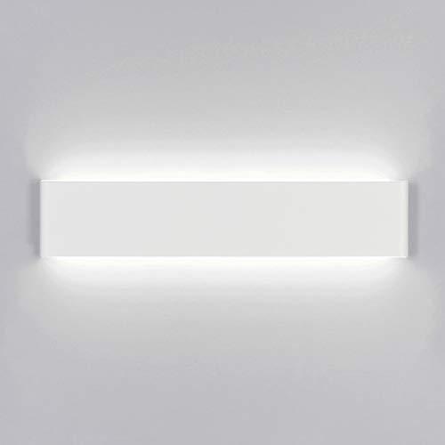Yafido Applique da Parete Interno Moderno 40CM Bianco LED Lampada da Parete 14W Bianca Fredda Lampada Muro Perfetto per Camera da Letto Soggiorno Corridoio Bagno Scale