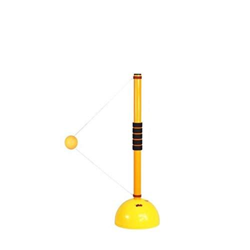 KMDSM Ping-Pong, Elevador elástico Suave del Eje Mesa de Ping Pong Autoformación Artefacto Mesa de Ping Pong Pelota de Entrenamiento Inicio Practicar Bola, Amarillo (Altura de elevación 155 cm)