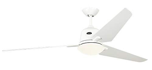 Unbekannt Casafan Deckenventilator mit Licht EcoAviatos 162 WE-WE weiß 162cm m. Fernb. Ventilator 4024397341108