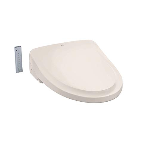 TOTO SW3054#12 S550E Electronic Bidet Toilet Seat with Cleansing Warm, Nightlight, Auto Open and Close Lid, Instantaneous Water Heating, and EWATER+, Elongated Classic, Sedona Beige