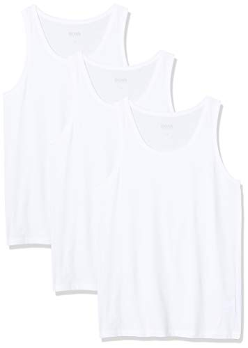 BOSS Herren Tank Top 3P CO T-Shirt, Weiß (White 100), X-Large (3er Pack)