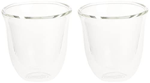 De'Longhi DLSC310 Doppelwandiges Thermoglas Espresso 2-er Set
