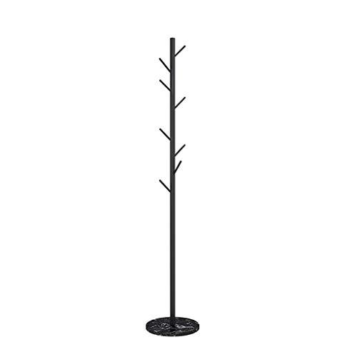 KaiKai Perchero de pie Coat Rack Bastidores, con Patas Hat Rack Perchero Perchero árbol de Navidad por Puerta de Entrada Granja Oficina ect (Color: Oro 2) (Color : Black1)