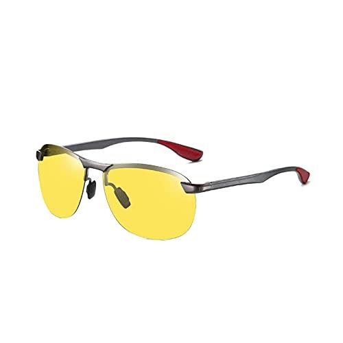 HHZ Las Nuevas Gafas de Sol de Aluminio-magnesio, Gafas polarizadas para Hombres, Gafas de Sol, conducción, conducción, Espejo, Espejo Deportivo, Gafas de Sol clásicas Anti-ultravioletas,D