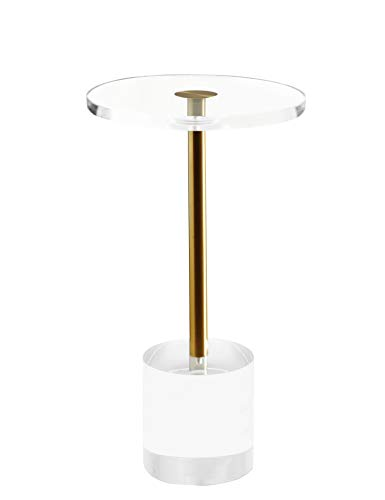 Artmaze Clear Acrylic End Table,Side Table,Round,for Office, Living Room and Bedroom,Easy...