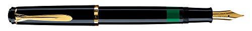 Pelikan 804097 Kolbenfüllhalter Classic M200, Feder EF Schwarz