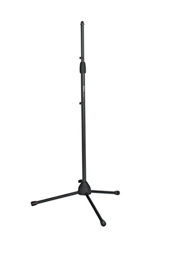 """Gator Frameworks Standard Tripod Microphone Stand with Adjustable Height and Both 3/8"""" and 5/8"""" Adapters (GFW-MIC-2000)"""