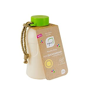 ajaa! Drinkfles 0,4 l limoen - drinkfles van hernieuwbare grondstoffen zonder melamine, zonder weekmakers zoals BPA, Made in Germany