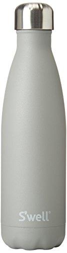 S'well Botella de agua de acero inoxidable aislada al vacío, 500 ml, cuarzo ahumado